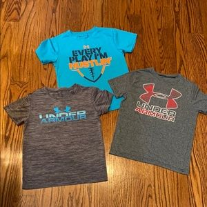 Bundle of 3 Boys Under Armour Tops